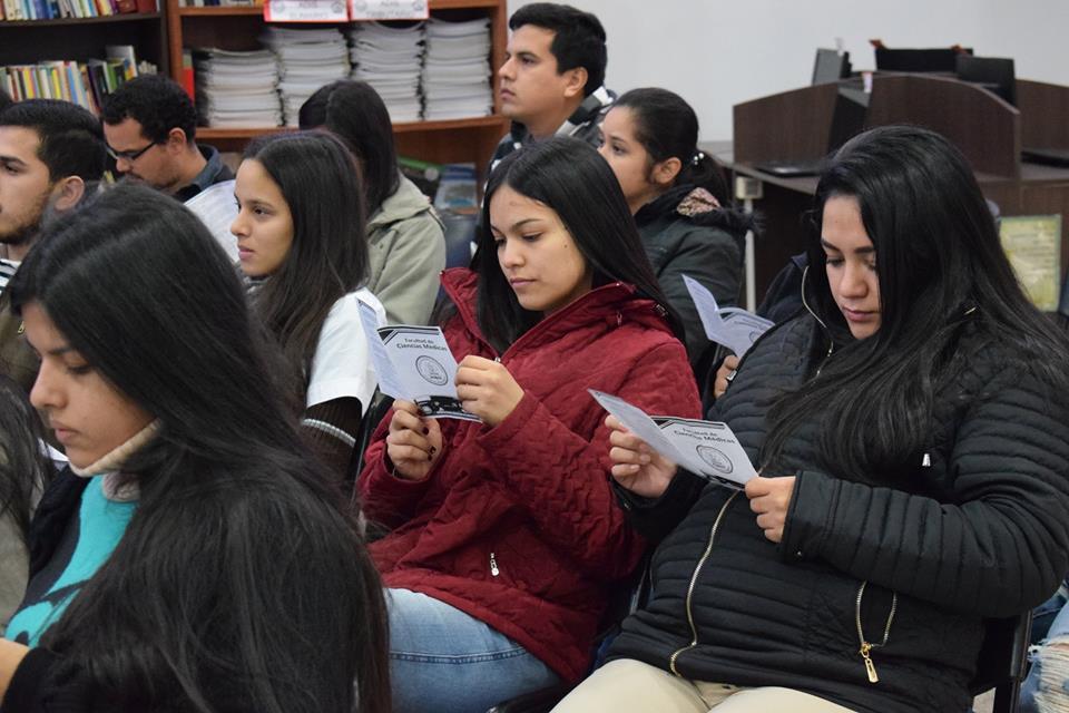 SOCIALIZACIÓN DE BIBLIOTECA A COMUNIDAD EDUCATIVA DE FACULTAD DE CIENCIAS MÉDICAS.