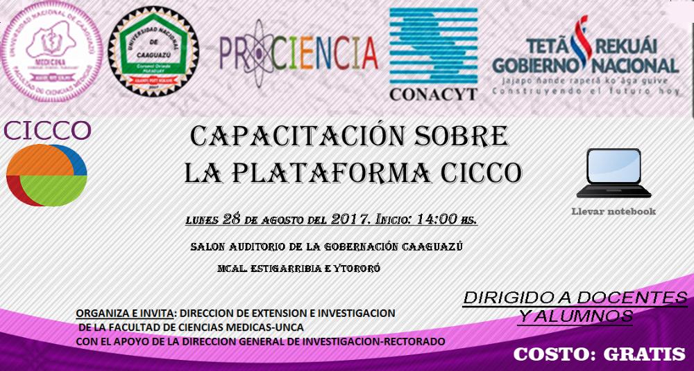 Capacitacion sobre la Plataforma CICCO