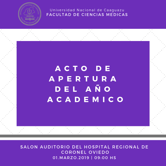 ACTO DE APERTURA DEL AÑO ACADEMICO
