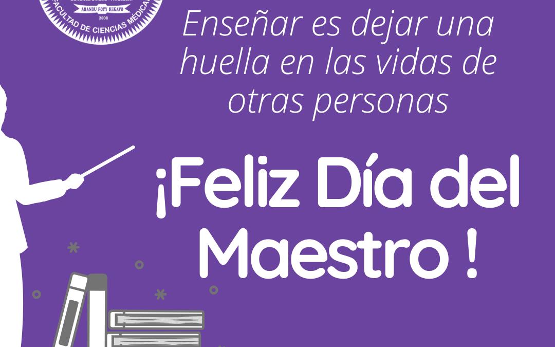 Feliz día del Maestro !
