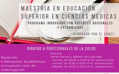 MAESTRÍA EN EDUCACIÓN SUPERIOR EN CIENCIAS MEDICAS